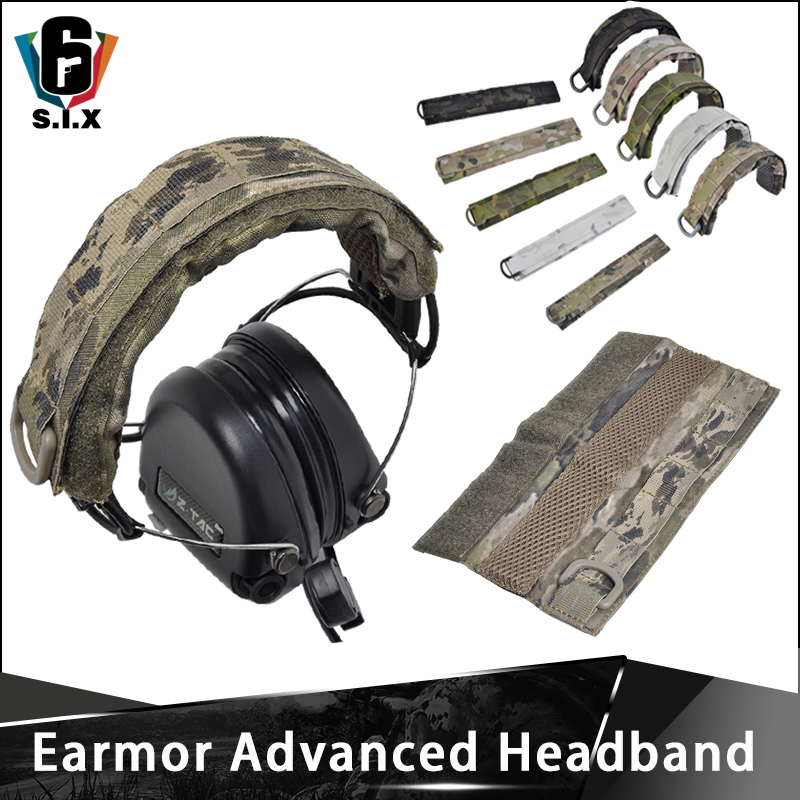 OPSMEN Earmor Tactical Advanced Modular Headset Cover Molle Headband For General Tactical Earmuffs Headphone Accessories
