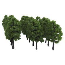 20 шт Модель деревья 1:100 масштаб поезд макет рельсовый пейзаж