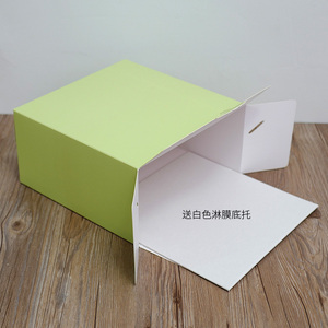 Image 4 - 2017 جديد لون الخبز صندوق 6 بوصة 21x21x15 سنتيمتر 8 بوصة 26x26x15 سنتيمتر 10 بوصة 12 بوصة تنقش عيد ميلاد كعكة المعجنات هدية صندوق