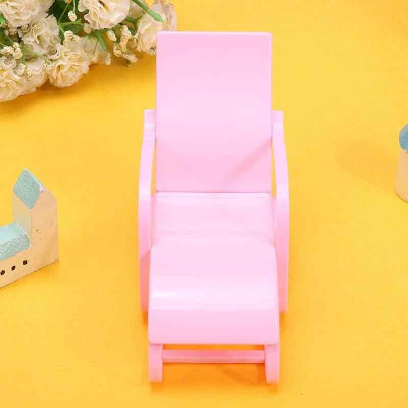 1 Pcs Pantai Kursi untuk Boneka Pink Kursi Rumah Ruang Tamu Gardan Furniture Boneka Aksesoris Boneka Gadis Life2