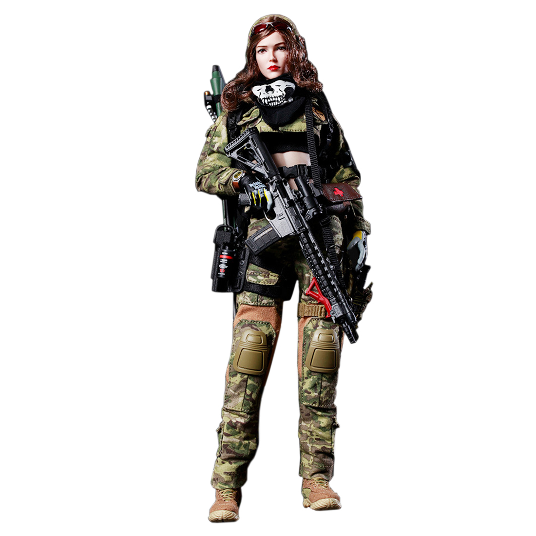 1/6 Scale FLAGSET Movable Woman War Angel Military Soldier Action Figure Toys 12'' Collectable Female Soilder Model Set