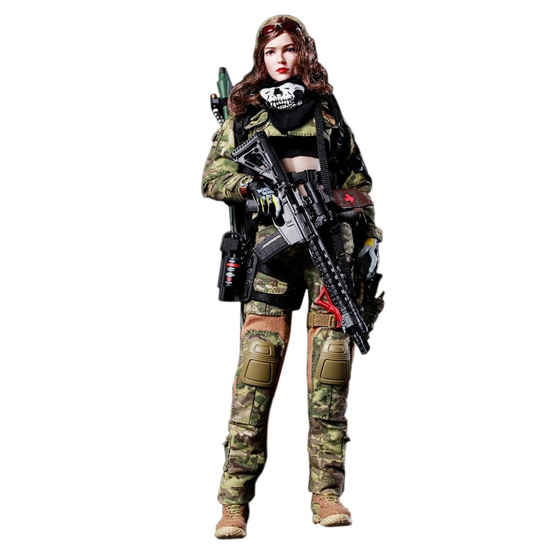 1/6 skala FLAGSET ruchome kobieta wojny anioł wojskowy żołnierz Action Figure zabawki 12 ''kolekcjonerskich kobiet Soilder Model Set w Figurki i postaci od Zabawki i hobby na  Grupa 1