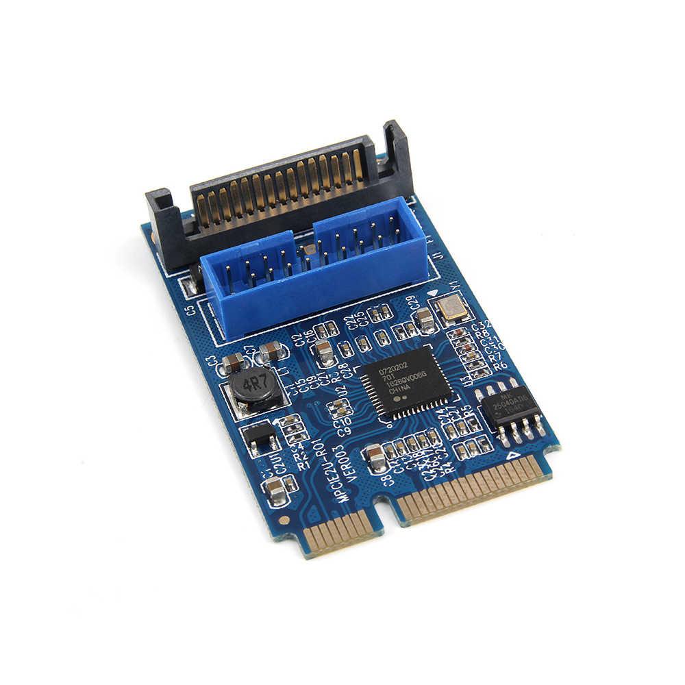 ミニ USB3.0 アダプタカードにミニの Pcie 20Pin/19Pin 拡張カード