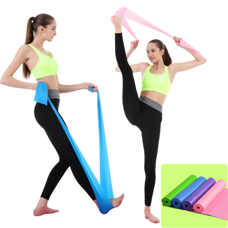 5 Colors Yoga Resistance Rubber Bands Sports Training Workout Elastic Bands Fitness Gym Equipment Crossfit Yoga Ropes Free Ship