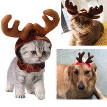 Рождественская шапка для домашних животных, собак, кошек, Рождественский головной убор, Рождественский олень, оленьи рога, повязка на голову, новая одежда
