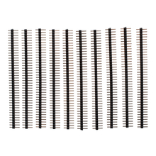цена на 10 Pcs 1x40 Pin 2.0mm Pitch Single Row PCB Pin Headers