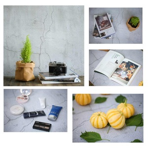 Image 4 - 56*88cm / 22*34.5in Double Sides Wood Marble Cement Wall Like Vintage Photography Background Backdrop Paper Board Prop For Food