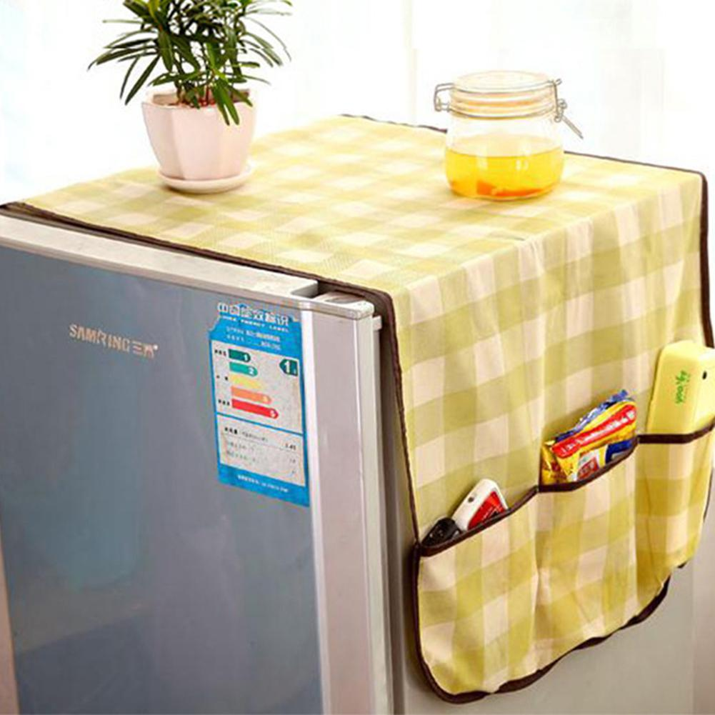 Multipurpose Nonwoven Refrigerator Dust Cover With Storage Pockets