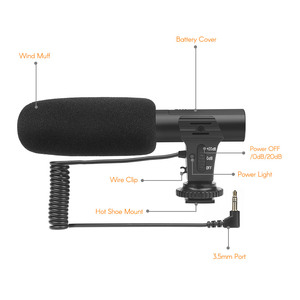 Image 5 - SHOOT XT 451 Portable Condenser Stereo Microphone Mic with 3.5mm Jack Hot Shoe Mount for Canon Sony Nikon Camera Camcorder
