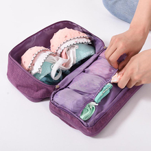 BUCHNIK Women Underwear Bags Portable Travel Compartment Wash Cosmetic Clothes Organizer Fashion Bra Storage Cases Accessories