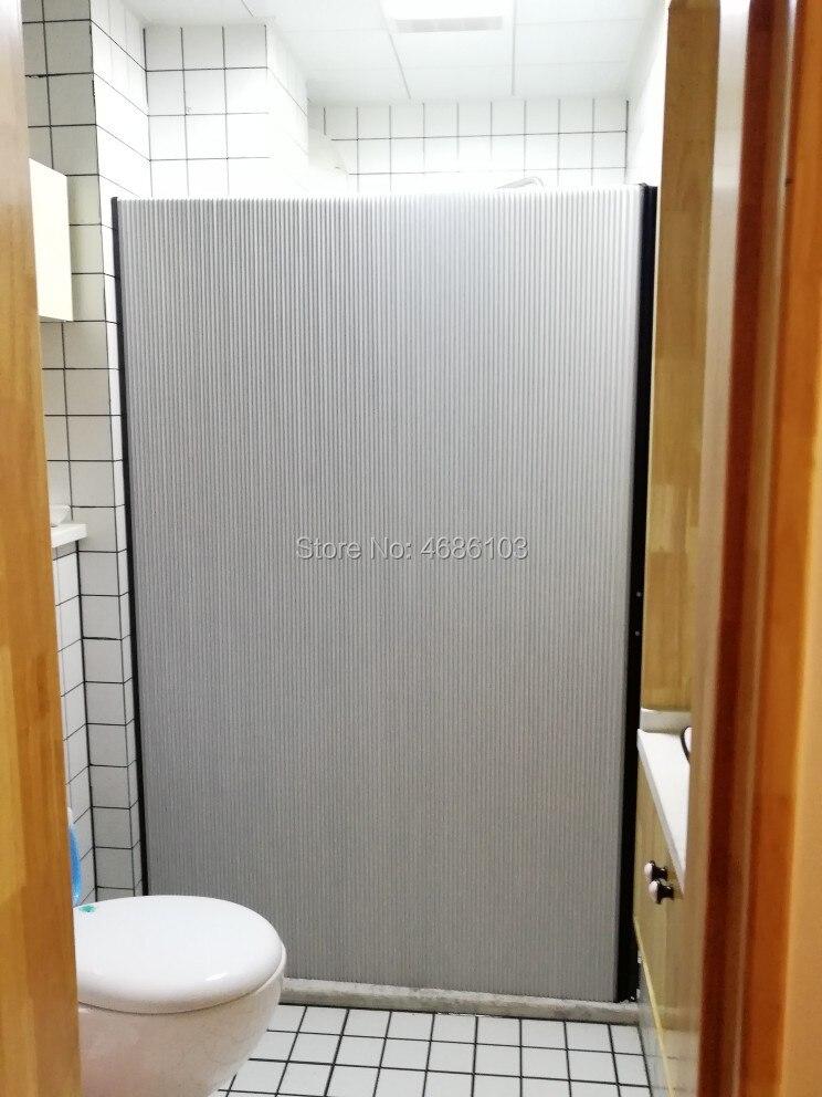 Рисовая белая ванная невидимая душевая занавеска без дырочек, легкая установка, защита от плесени, туалет, ванная комната, водонепроницаема...
