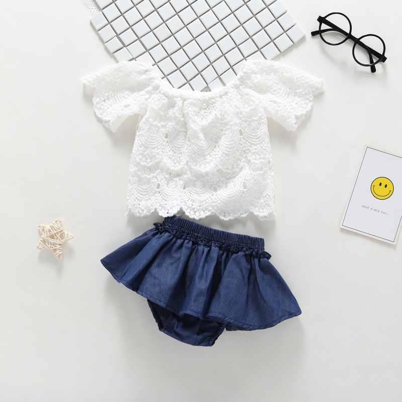 Girls Summer Tops Stripe Shorts Pants 2PCS 2019 outfits Toddler Kids Girl Beach Outfits Turn down Collar Clothes T shirt Vest in Clothing Sets from Mother Kids