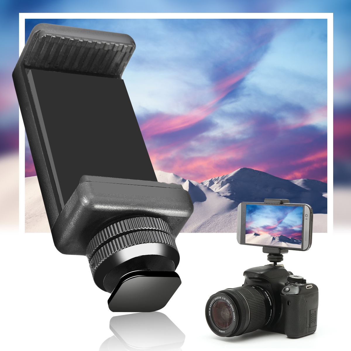 1/4 Flash Hot Shoe Screw Adapter Tripod Mount Phone Clip Holder For DSLR Camera(China)