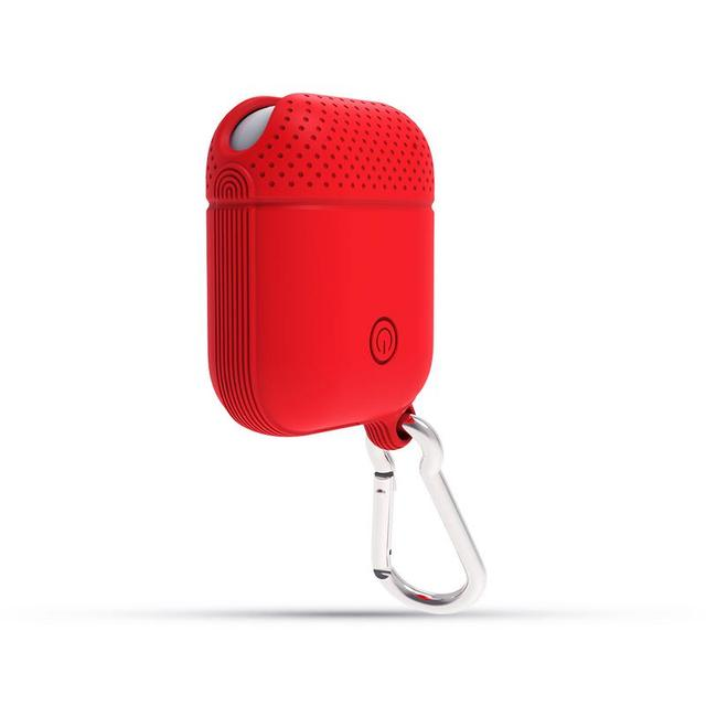 a61f388aedf Wireless Bluetooth Headset Silicone Case Portable Earphones Protection Bag  Waterproof Charging Box With Hook For Apple Airpods