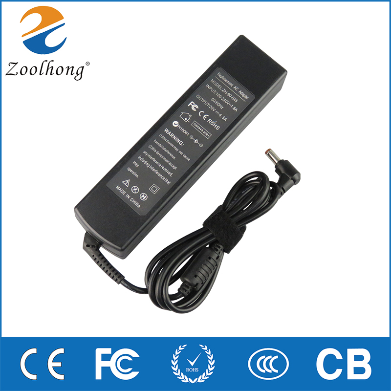 20V 4.5A 5.5*2.5mm For <font><b>Lenovo</b></font> IdeaPad <font><b>G570</b></font> G580 G770 Laptop Adapter Charger 15.6-Inch G Series Notebook Power Supply image