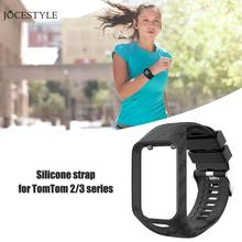 Silicone Watchband Bracelet Breathable Watch Strap Wrist Band for TomTom Series 2/3 Bands Rubber Watchband Strap Sport Loop