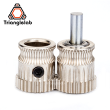 2.85/3.0MM inner diameter 8mm Drivegear kit dual drive gear extruder kit Cloned Btech  for Prusa i3 3d printer Bowden Extruder funssor all metal dual extruder x carriage x end idler x end motor kit no motor for diy prusa i3 3d printer