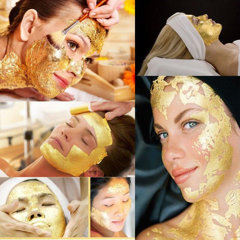 2019 New 10PCs Gold Foil Leaf 99%+ 24K Food Cake Decor Edible Face Beauty Gilding