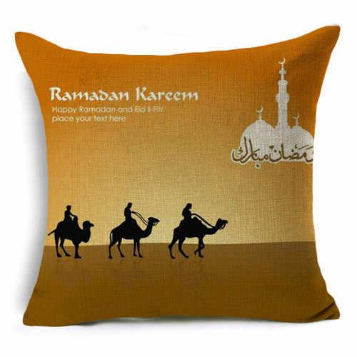 Ramadan Decorazione Eid Mubarak Luna Moschea di Lino Fodere per Cuscini Cuscini Decorativi Cuscini per Divano Del Soggiorno Cuscino 40253