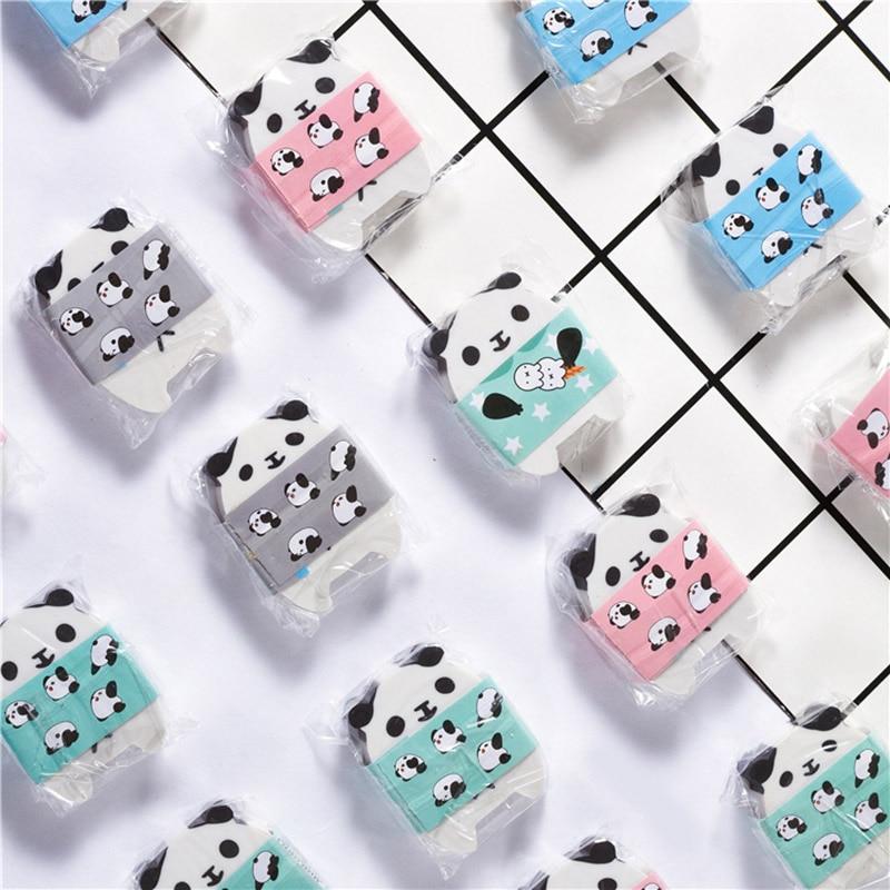 Lovely Panda Pencil Eraser Kawaii Cartoon Animals Rubber Cute Erasers Girls Kids Gifts School Office Korean Stationery Supplies
