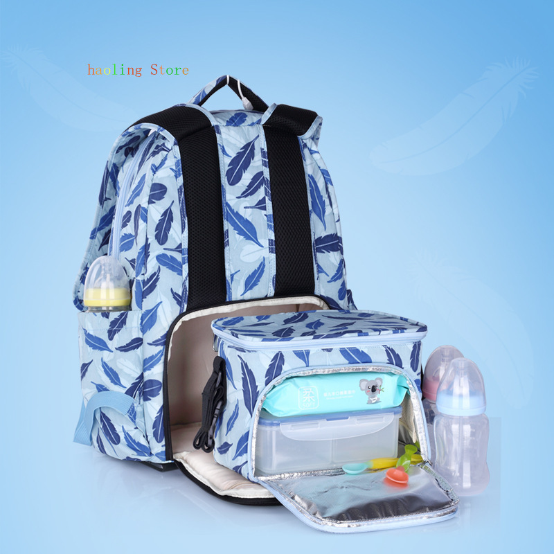 Diaper Bag Backpack Nylon Printing Shoulder Multifunction Waterproof Baby Bags For Mom Stylish And Convenient Free Shipping in Diaper Bags from Mother Kids