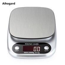 10 кг/1 г ЖК-электронные кухонные весы бытовые весы для приготовления пищи измерительный инструмент из нержавеющей стали цифровые весы для взвешивания пищевых продуктов g OZ ML