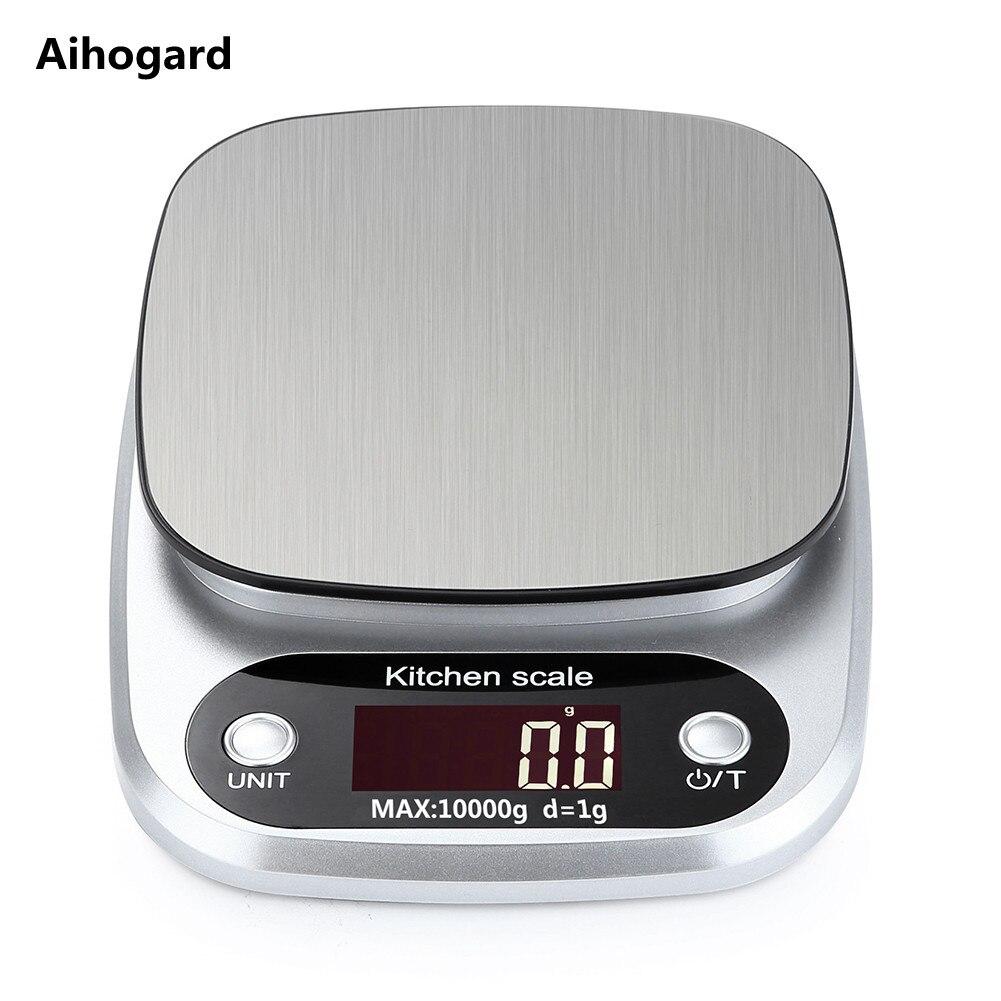 10 kg/1g LCD électronique cuisine balances ménage Balance cuisson mesure outil acier inoxydable numérique pesage alimentaire Balance G OZ ML