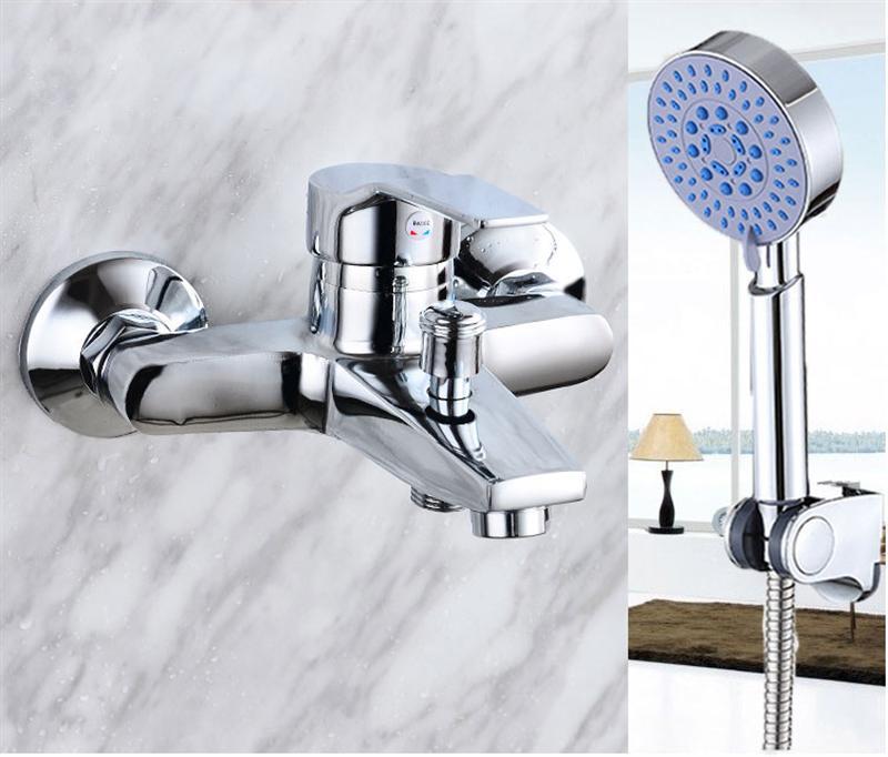 Modern Waterfall Wall Mounted Bathroom Water Faucet and Hand ShowerModern Waterfall Wall Mounted Bathroom Water Faucet and Hand Shower