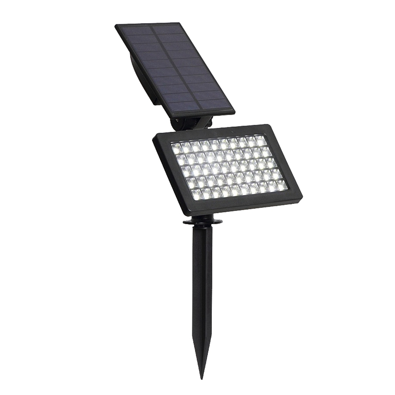 Adjustable Outdoor Solar Lamp 50 Leds Solar Garden Led Light Ip44 Waterproof Wall Lighting For Garden/Lawn(White)