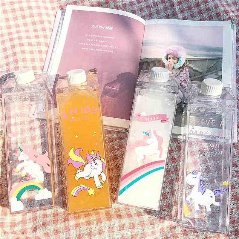 500 мл фантастический летний мультфильм лошадь молочный напиток коробка бутылка для воды подарок на день рождения Дети Мальчики Девочки ясная бутылка молока чашка