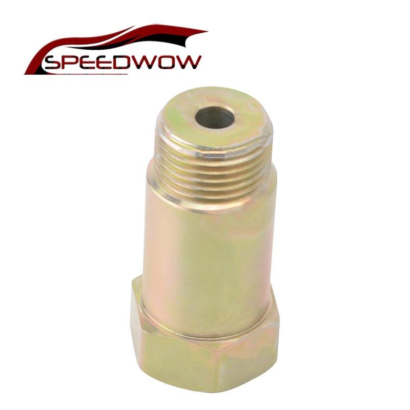 SPEEDWOW Universal M18 * 1,5 O2 Chapado en hierro Zinc Sensor espaciador adaptador aislador extensor adaptador de tapón pieza de coche