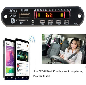 Image 5 - Kebidu Bluetooth Receiver for Car Kit MP3 Player Decoder Board Color Screen FM Radio TF USB 3.5 Mm AUX Audio For Iphone XS