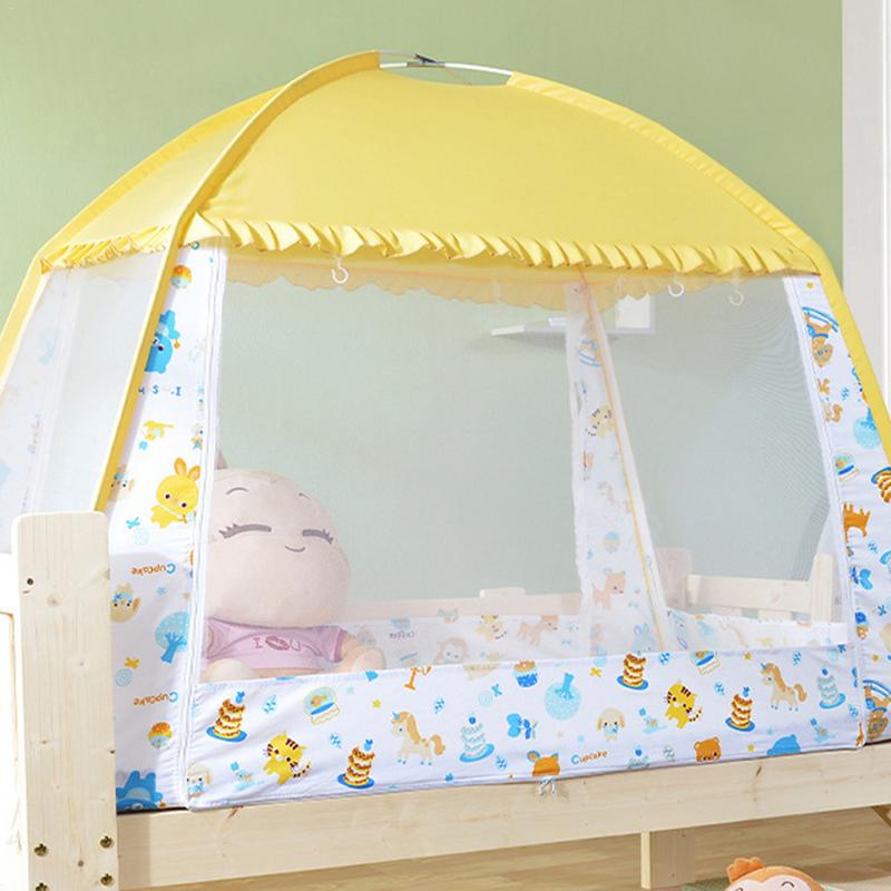 Bule Portable Baby Infants Insect Netting Mosquito Mesh Baby Cradle Canopy Bed Mosquito Nets Summer Baby Bed Crib Mosquito Tent