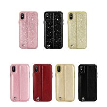 KISSCASE Diamand Leather Case For iPhone X XS 7 8 Plus Cover Flip Phone Cases Max 6s 6 With Hand Strap Card Slot