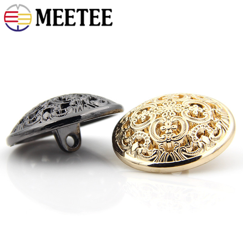 Arts,crafts & Sewing Meetee 20pcs 29*16mm Flower Leaf Retro Metal Button For Coat Women Men Suits Buttons Decoration Diy Sewing Accessories Zk869