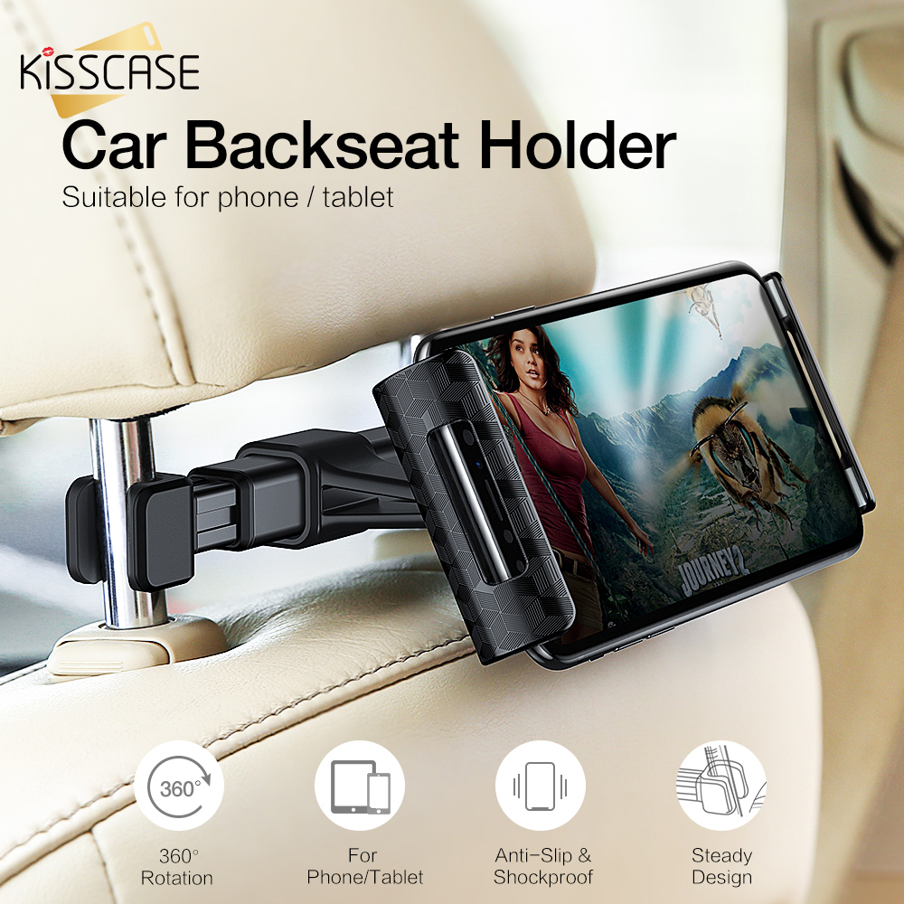 KISSCASE Universal Car Headrest Phone Holder Tablet Mobile Phone Support Car Stand Seat Mount Magnetism Phone Holder For IPhone