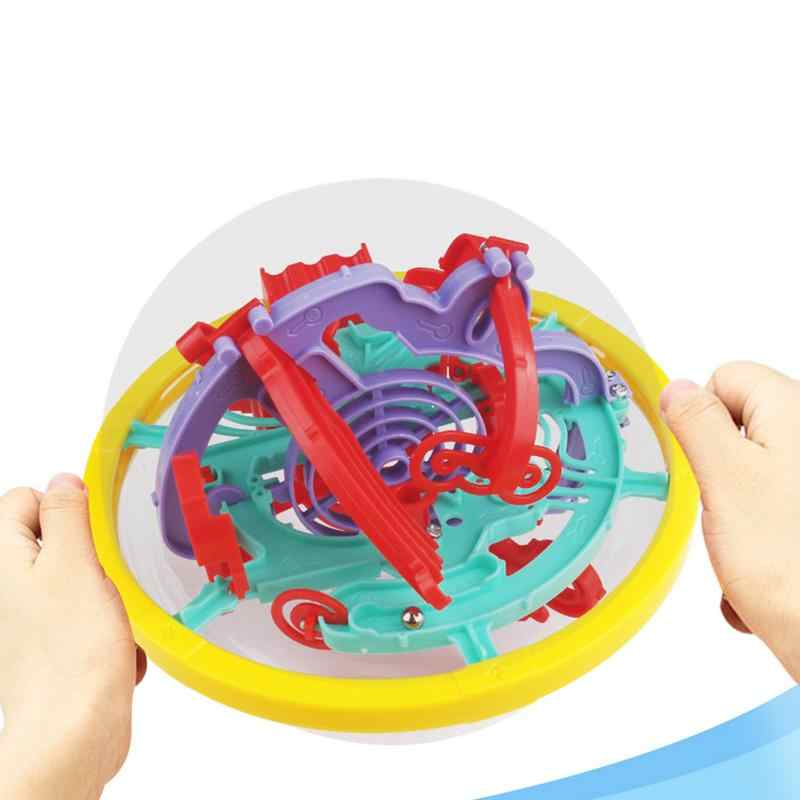 Мини 3D лабиринт игрушка пластмассовый лабиринт мяч 100 вызов барьер разнообразный трек головоломка образовательная разведка игра ребенок