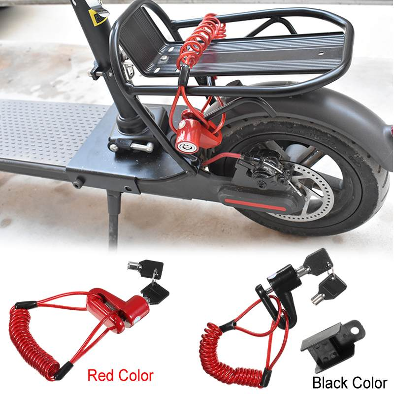Portable Anti theft Lock Steel Wire Bicycle Electric Skateboard Disc Brakes Wheel Lock For
