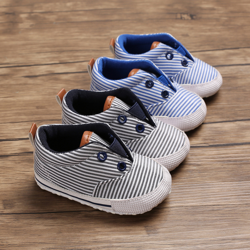 2019 Newborn Baby Boys Girls New Canvas Shoes Letter Pre Walker Soft Sole  Anti-Slip Casual Shoes 0-18 Months