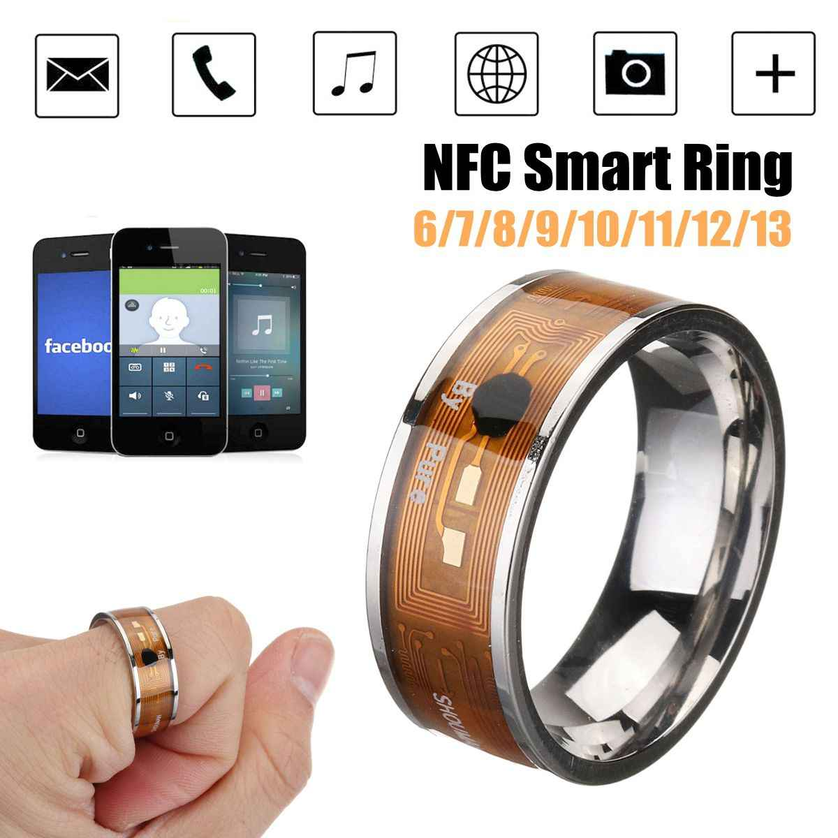 Baru NFC Smart Cincin Multifungsi Tahan Air Cerdas Magic Smart Wear Jari Digital Cincin untuk Android Windows Mobile NFC