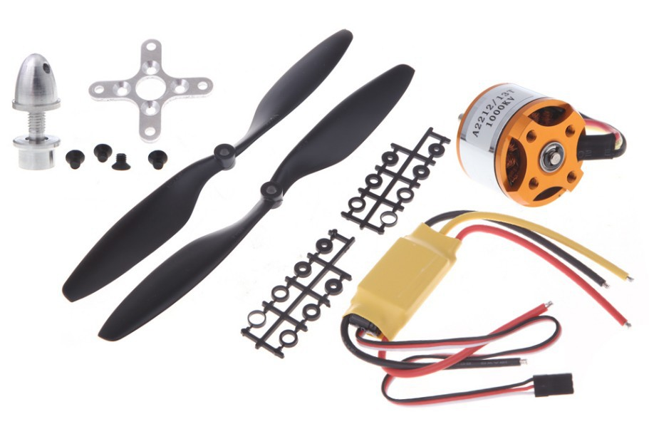US $10 64 9% OFF|A2212 1000KV 2200 Brushless Outrunner Motor +SimonK 30A  ESC+1045 Propeller(1 pair) Quad Rotor Set for RC Aircraft Multicopter-in
