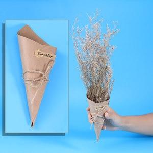 Image 3 - 50/100 stücke DIY Kraft Papier Kegel Candy Boxen Roman Kreative Eis Blume Halter Kraft Papier für Hochzeit party Geschenke Crafting
