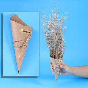 Image 3 - 50/100pcs DIY Kraft Paper Cones Candy Boxes Novel Creative Ice Cream Flower Holder Kraft Paper for Wedding Party Gifts Crafting