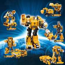 где купить Transformation Robot Car Metal Alloy Engineering Construction Vehicle Truck Assembly Deformation Toy Robot Kids Toys Gifts дешево