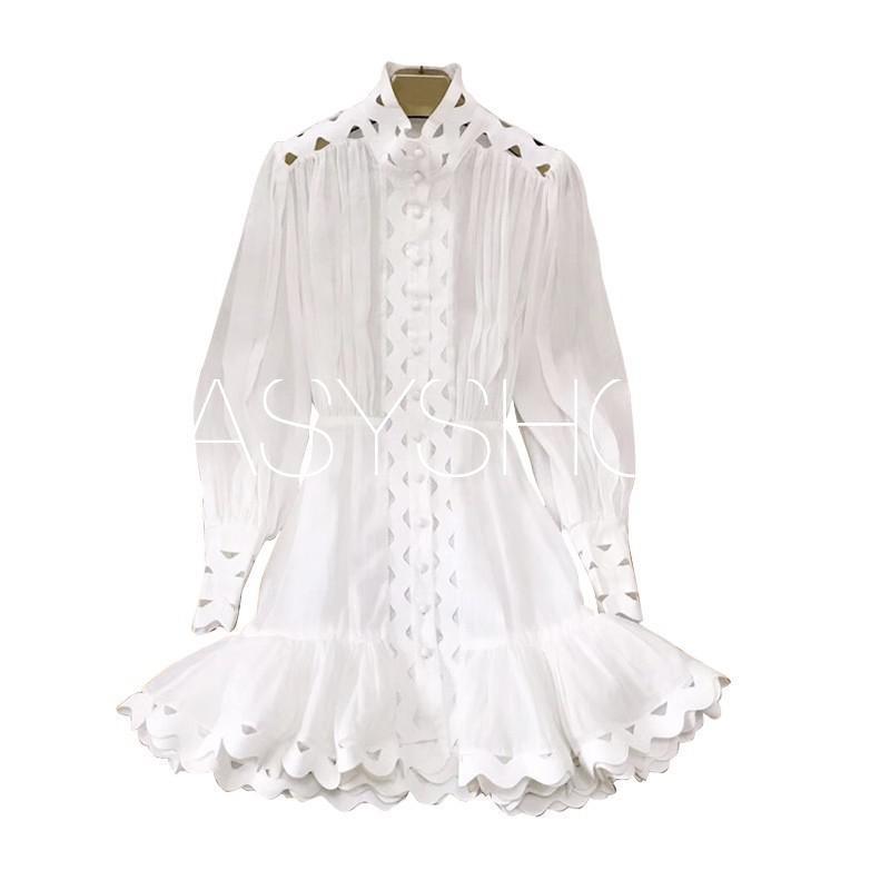 8008   100% ผ้าลินิน Classic Palace สไตล์แขนฟองเย็บปักถักร้อยชุดลูกไม้คุณภาพดีที่สุดในจีน-ใน ชุดเดรส จาก เสื้อผ้าสตรี บน   1