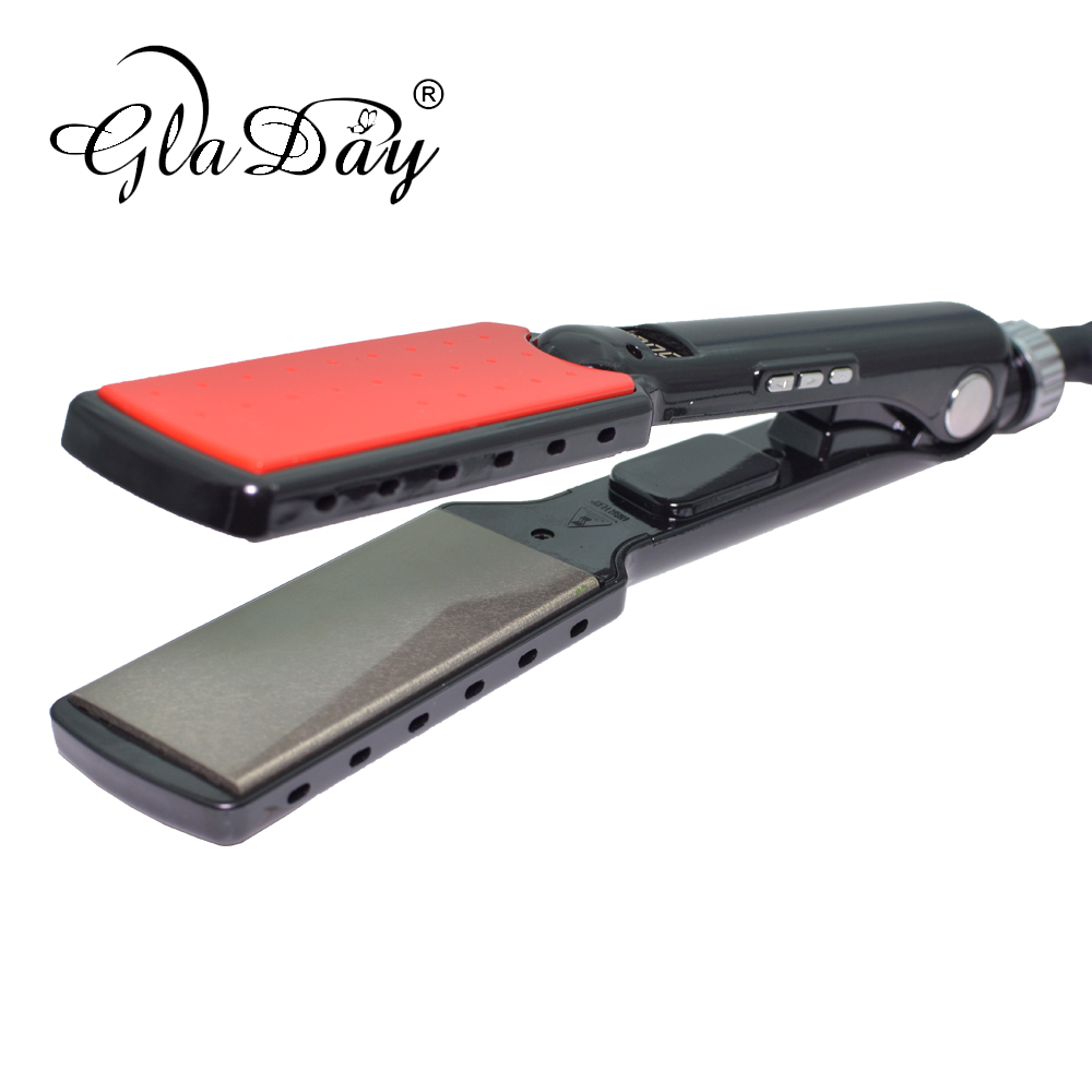 Keratin Hair Straightener Straightening Irons Professional Titanium Flat Iron With 230 Degree High Temperature in Straightening Irons from Home Appliances