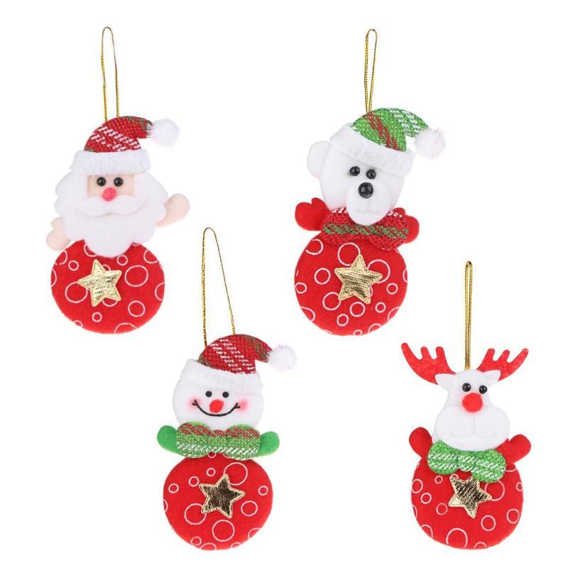9219454b9daf7 Купить Елка и Снеговик висячие украшения Новогоднее Санта Клаус Лось ...