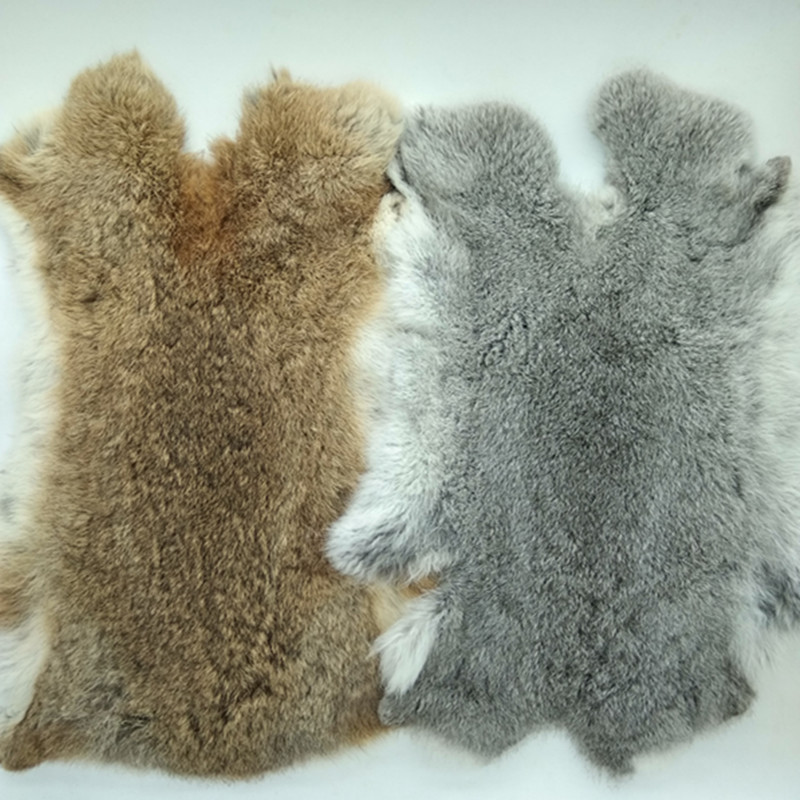 Natural Brown Brownish Grey Rabbit Fur Pelt Genuine Rabbit Fur Craft  Bunny Sewing Accessories Natural Fur N12