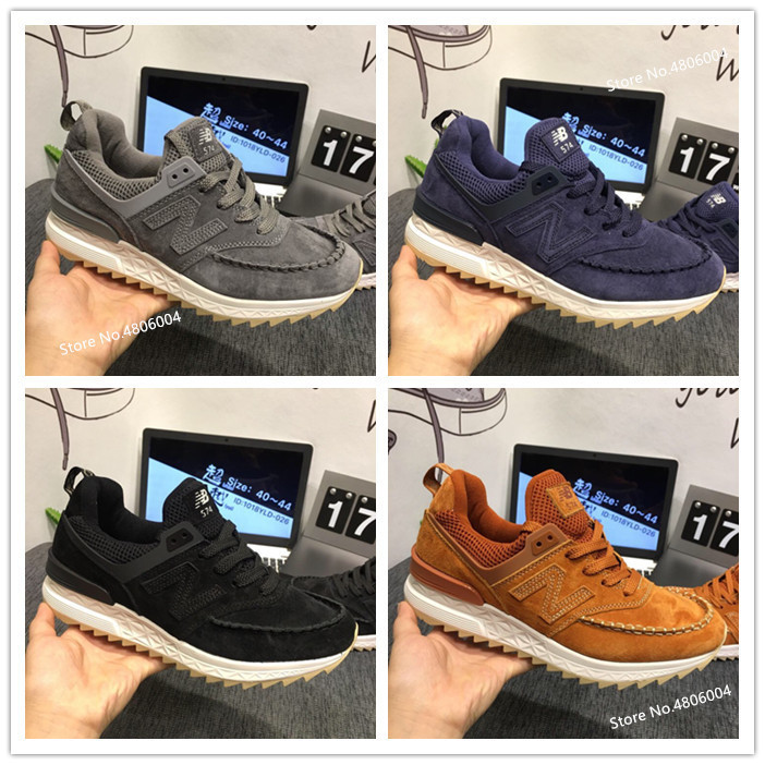 New Balance 574V2  Running Shoes 4 Color Men Classic Sport Shoes Retro Shoes For Fashion Genuine Leather 36-44