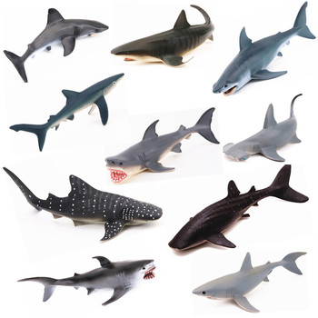 18 Type Ocean Sea Animals Model Toy Figures White Whale Sealife Sea Life Shark Toy Beluga Figurine Educational Toy Children Gift Щипцы